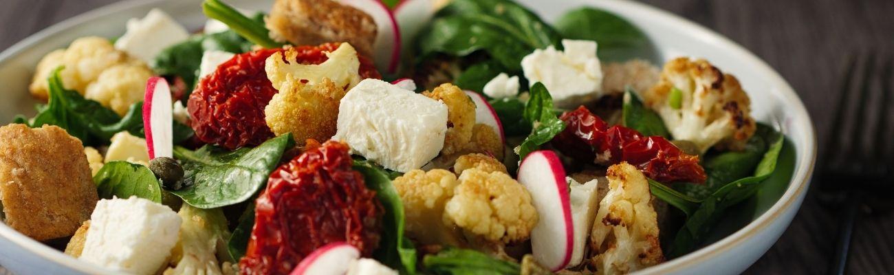 Receta Actiture ensalada de coliflor bio gratinada y tomate seco