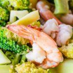 Receta Actiture de brócoli bio con gambones y zanahoria