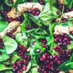 Receta Actiture Ensalada de espinaca bio, pollo y granada