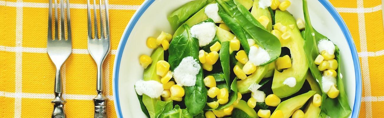 Receta Actiture ensalada de espinaca y maíz bio con vinagreta de limón